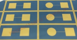 Robert Northcutt's substrates: Microfabricated substrates for supporting biotemplated PPy(DBS) membranes. These metal evaporated and flat substrates with various PPy-based membranes are used for topography imaging and electrochemical activity imaging