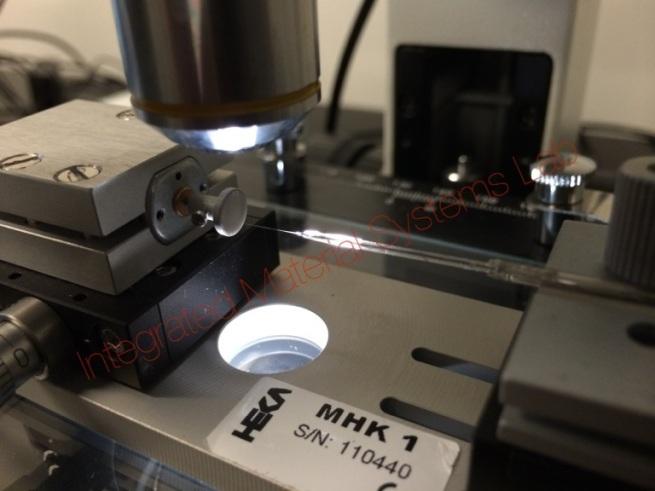 Prof. Sundaresan's research - SECM nanoelectrode (100nm) being polished in HEKA MHK-1 polisher