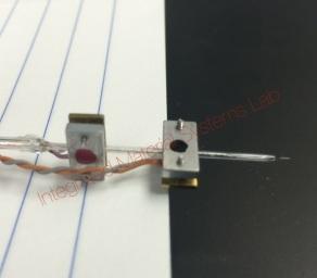 Prof. Sundaresan's research - SECM electrode prepared for imaging
